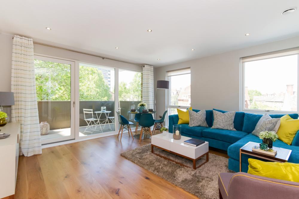 Living area - Apartment - Harvard Gardens - L&Q