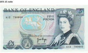 1971 £5 note