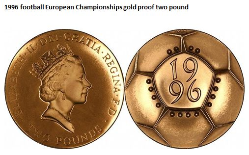 1996 football European Championships gold proof two pound