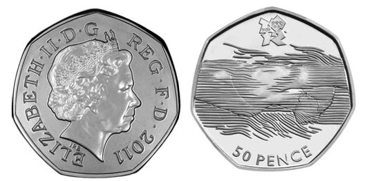 2012 Olympics swimming fifty pence