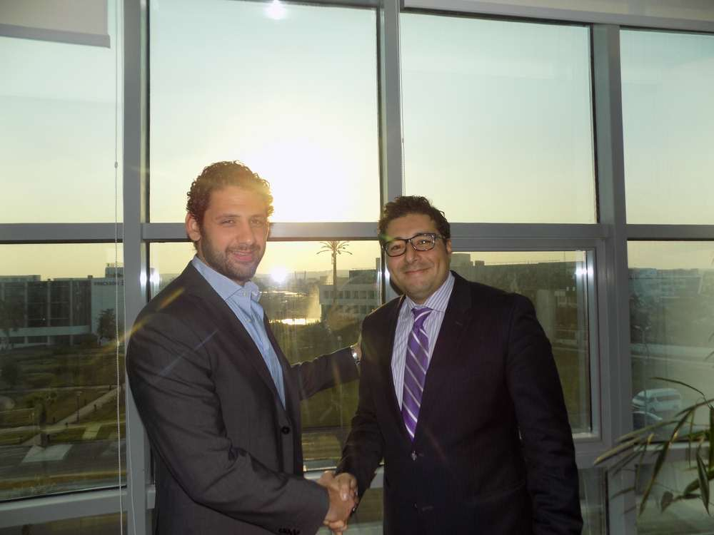 (L) Mohamed Fahmy, CEO, IST and (R) Mohamed Afifi, managing director, Middle East, Genesys