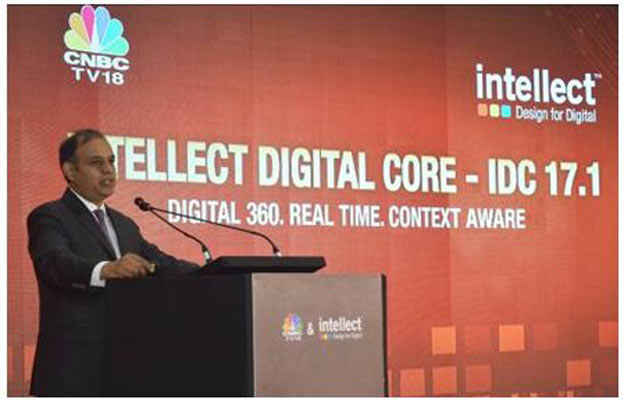 Rajesh Saxena, CEO, Global Consumer Banking (iGCB), Intellect Design Arena Limited launching Intellect Digital Core – IDC 17. 1