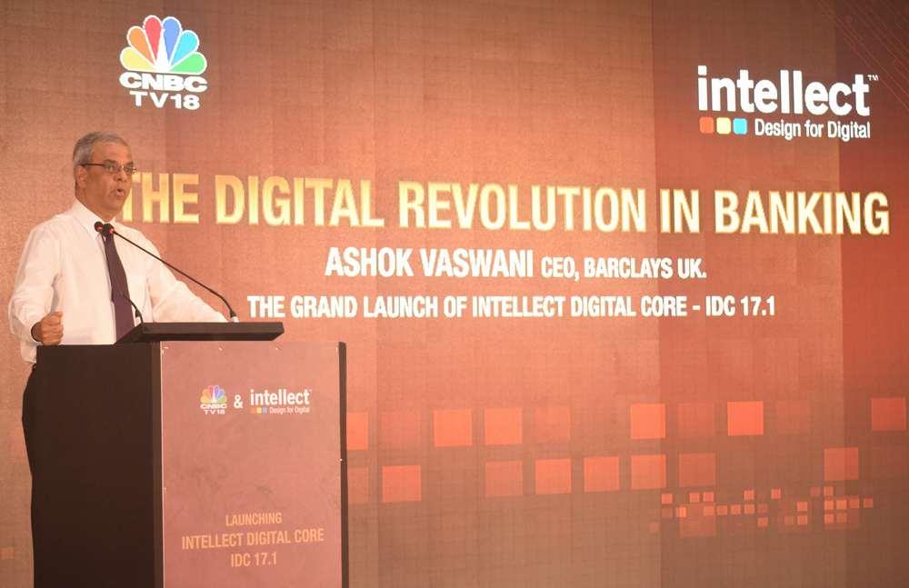 Mr. Ashok Vaswani, CEO, Barclays UK delivering the keynote address at the IDC