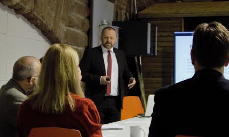 Nigel Peers, Senior Consultant at NW Security, gives his insights regarding the EU GDPR at a seminar in Birkenhead