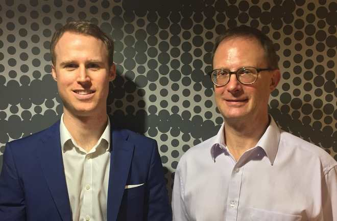 L-r Founder and CEO of BlackCurve Philip Huthwaite and Charles Huthwaite, Technical Director.