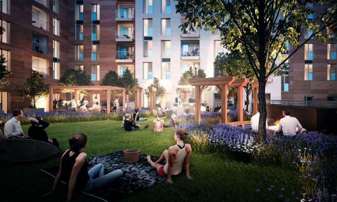 Atlas Residential and RockspringProperty Investment Managers LLP'scomplete and operational site, Bow Square, Southampton