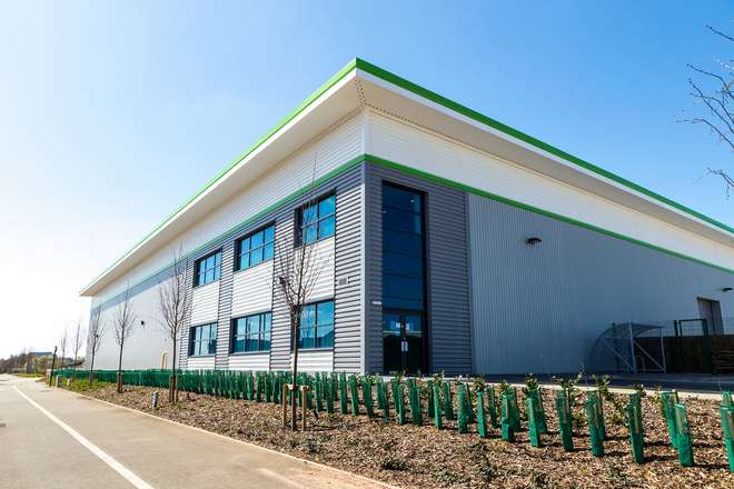 Outside of Impression Technologies' facility, located on the former site of the Jaguar factory in Lyons Park, Coventry