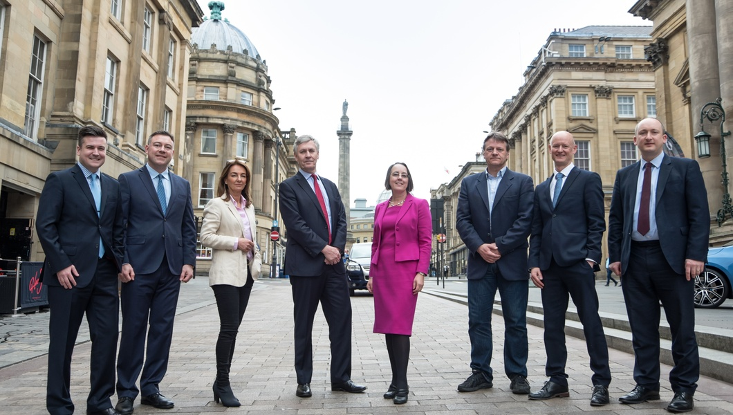 L-r: Ian Wilson - Mercia Fund Managers, Michael Vassallo - Maven Capital Partners, Dawn Dunn - The North East Fund, Andrew Mitchell - The North East Fund, Yvonne Gale - NEL, Ian Richards - Northstar Ventures, Jason Hobbs - The North East Fund and Alastair Smith - The North East Fund