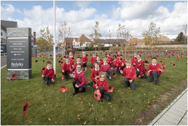 A Prestigious Poppy Display Made By The Pupils At Southwater Junior Academy