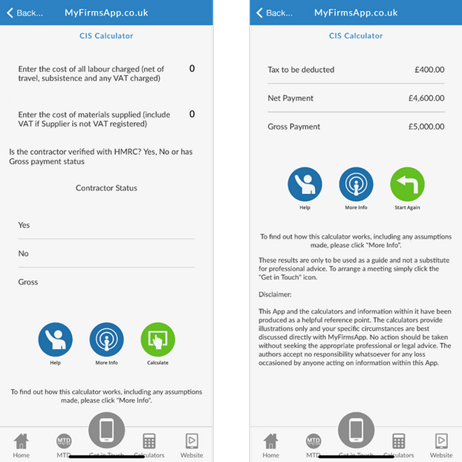 Accountants Can Add Even More Value by Offering Clients New Breakeven and CIS Calculators from Their Own Downloadable App