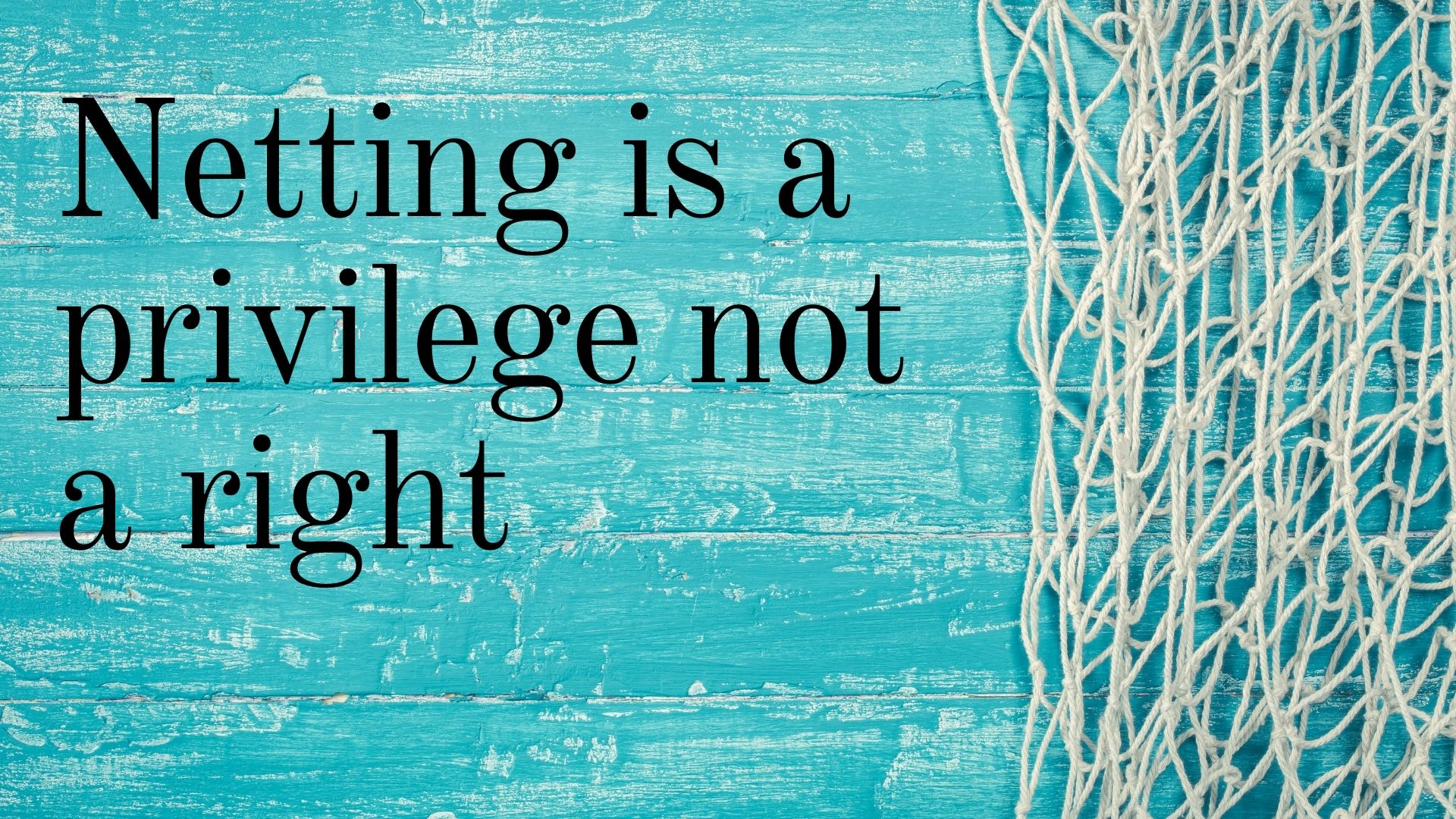 Netting is a privilege not a right 11