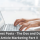 Paid Guest Posts - The Dos and Don'ts of Article Marketing Part II 24