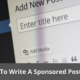 What To Write A Sponsored Post About? Best tips 26