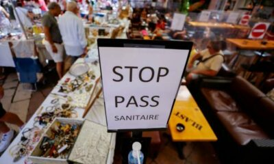 French vaccination centres vandalised as health pass is introduced 50