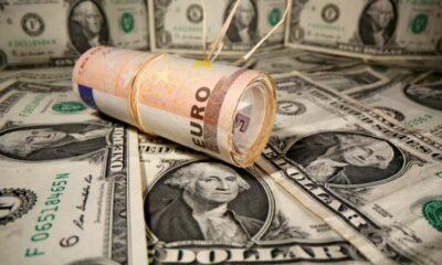 Dollar dented as consumer sentiment dives 55