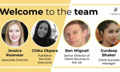 Inskin Media makes a number of strategic hires as it furthers its mission to maximise attention and impact in digital campaigns 54
