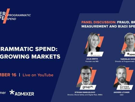 Admixer to join other leading industry players at upcoming Adsider LIVE/Programmatic Spend event 41